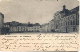 FONTAINE-L´EVEQUE-LA GRAND´PLACE-CARTE PRECURSEUR ENVOYEE 1903-IMP.DUVIVIER FRERES-RARE!! - Fontaine-l'Evêque
