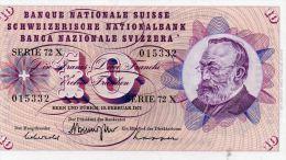 SUISSE : 10 Frcs 1971 (unc) - Suisse