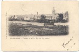 FONTAINE-L´EVEQUE-PANORAMA DE LA VILLE-CARTE PRECURSEUR ENVOYEE 1902-IMP.DUVIVIER FRERES-RARE!! - Fontaine-l'Evêque