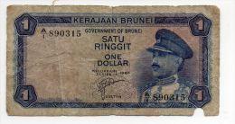 BRUNEI : 1 Ringitt 1967 (fine) - Brunei
