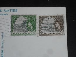 BASUTOLAND AVEC YT 72 ET 73 SUR CPM - ELIZABETH II - COLLINE DE QILOANE - RIVIERE ORANGE - ENFANTS BASUTOS INITIATION - - Basutoland (1933-1966)