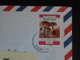 LETTRE BURUNDI AVEC YT 997 - CHAMPIGNON RUSSULE - - Burundi
