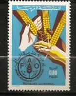 Maroc 1984 N° 975 ** Alimentation, Céréales, Mains, Blé, FAO, Ongles, Epis, Pauvreté, Famine - Morocco (1956-...)