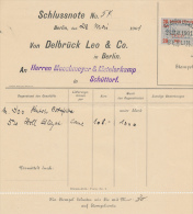 BERLIN - Wechselsteuermarke , Revenue Stamp -  20 Pfennig - Wechsel