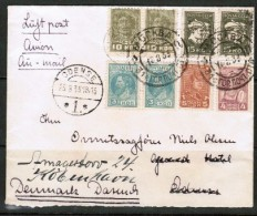 RUSSIA    1933  Airmail Cover---Redirected From Odessa To Denmark (25/8/33) (OS-398) - Covers & Documents