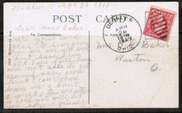 "U.S.A.    USED POSTCARD  ""Deshler, Ohio""  (Apr. 26 1918) (PC-9) - Other"