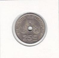25  CENTIMES Maillechort Léopold III 1938 FL/FR - 1934-1945: Leopold III