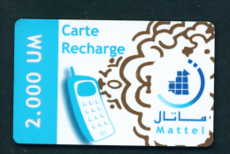MAURITANIA - Remote Phonecard *BOGOF (stock Scan) - Mauritania