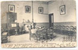 GOSSELIES-ETABLISSEMENT DES SOEURS DE LA PROVIDENCE-PARLOIR DES PENSIONNAIRES-CARTE ENVOYEE 1906-VOYEZ 2 SCANS - Charleroi