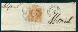 Spain-España  1860-1 Edifil 52 Rueda 27 Guadalajara Used - Used Stamps