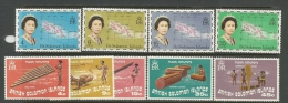 Solomon Islands  1973-4   Sc#254-8 & 264-7 Sets   MH*  2016 Scott Value  $4.65 - Salomonen (...-1978)