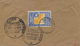 Ecuador 1931 Cover From Guayaquil To Germany With 20 Cent. Loading Sugar Cane - Agriculture