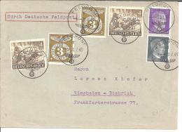 DBII055/ Per Dt. Feldpost 1943. 24 Pfg. Tarif Mit Dt. Marken. Werksmonteur In Herden - Besetzungen 1938-45