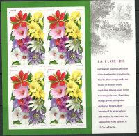 Les Beautés Florales De La Floride.  Feuille Entière De 16 T-p Neufs ** - Feuilles Complètes