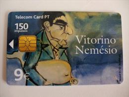 Phonecard/ Telécarte Telecom Card Vitorino Nemésio - 150 Impulsos Portugal Tirage 36000 Ex. - Portugal