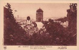 Morocco Rabat Two Girls Of Oudayas 1920-30s - Rabat