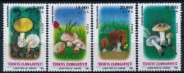 Turkey Türkei Mushrooms Pilze Set (4) °BM0809 MNH - Paddestoelen