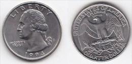 *ETATS UNIS*QUATER DOLLAR*WASHINGTON*année 1994 D *FDC-UNC - Émissions Fédérales