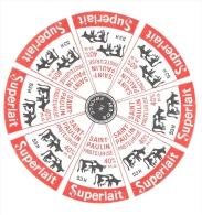 Ancienne Etiquette Fromage  St Paulin Superlait  Fabriqué Dans La Mayenne 53H - Fromage