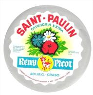 Ancienne Etiquette Fromage  St Paulin  Reny Picot Fabriqué En Normandie 14 BP  Export Espagne  Fleurs - Fromage