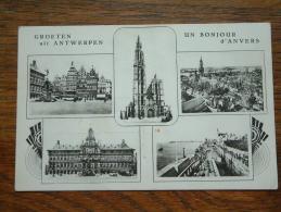 Groeten Uit Antwerpen / Un Bonjour D'Anvers - Anno 19?? ( Zie Foto Voor Details ) !! - Belgique