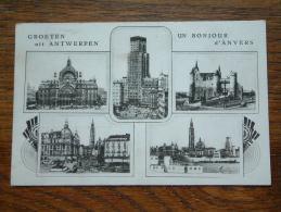 Groeten Uit Antwerpen / Un Bonjour D´Anvers - Anno 19?? ( Zie Foto Voor Details ) !! - Belgique