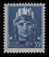 Italia - Emissione Di Novara / Con Fasci - 35 C. Azzurro (n° 527) - 1945 - Neufs