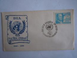 Brazilie Bresil Brasilien Brasil 1956 FDC Jour Des Nations Unies Timbre De La Visite Du Président Berres Yv PA 57 - FDC