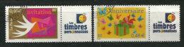 Invitation & Anniversaire (3479a & 3480a) Obliterations Manuelles.   Cote 8,00 € - France
