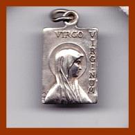 """Jolie Médaille Religieuse  """"Virgo Virginum"""" ND Notre Dame De Lourdes Argent Catholique Etat TTB - Religion & Esotérisme"""