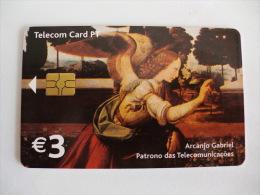 Phonecard/ Telécarte Telecom Card Arcanjo Gabriel/ Leonardo Da Vinci Portugal - Portugal