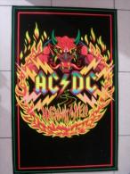 MUSIQUE - POSTER VELOURS & FLUO - AC/DC - REAGIS A LA LUMIERE NOIRE - 85x52cm - Plakate & Poster