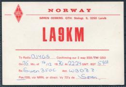 1970 Norway Larvik QSL Card - Radio Amateur
