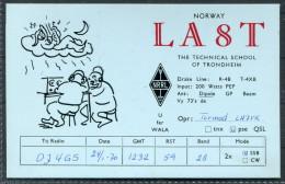 1970 Norway Trondheim QSL Card - Radio Amateur