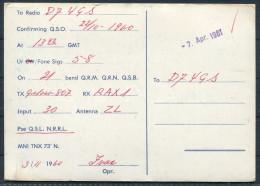 1961 Norway Oslo QSL Card - Radio Amateur