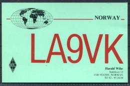 1987 Norway Vestby QSL Card - Radio Amateur