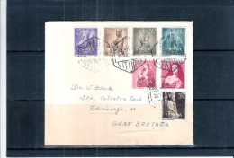 Belle Lettre D'Espagne Voyagé Vers La Grande Bretagne  (à Voir) - 1951-60 Lettres