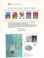 371g: UNO Wien 1986, Weltjugendjahr 2 Belege - Kind & Jugend