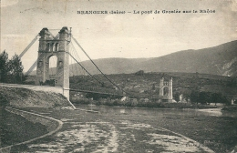 38    BRANGUES - Le Pont De Groslée Sur Le Rhone  En 1943 - Altri Comuni