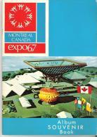 Montreal Canada EXPO67  Album Souvenir Book  29 Pages  Bilingual  Bilangue Francais Et English - Exploration/Travel