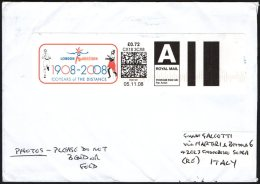 OLYMPIC - UNITED KINGDOM 2008 - METER / EMA - 1908 / 2008 LONDON MARATHON - 100 YEARS OF THE DISTANCE - Summer 1908: London