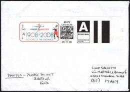 OLYMPIC - UNITED KINGDOM 2008 - METER / EMA - 1908 / 2008 LONDON MARATHON - 100 YEARS OF THE DISTANCE