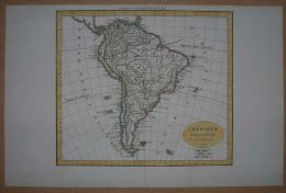 1825 Delamarche Map SOUTH AMERICA - Unclassified