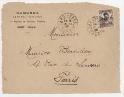 Indochine- 1. Régiment De Tirailleurs Tonkinois.  Hanoi Tonkin- Face De Lettre - Indochine (1889-1945)