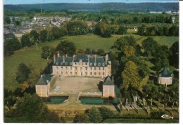 CPSM SERQUIGNY, Le Grand Château Ladapt, Vue Aérienne - Serquigny