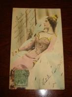 Lina Cavalieri Actress Opera Stage Vintage Original Photo Postcard Carte Postale Cpa Ak (W3_2563) - Donne