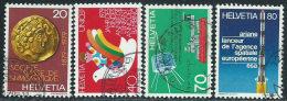 Svizzera 1979 Usato - Mi.1161/4  Yv.1092/5 - Usati