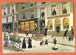X071, Galerie Naïfs Et Primitifs, Rodolphe Rousseau, La Galerie, Boulangerie , Animée, GF, Non  Circulée - Phantasie