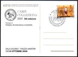 "ATHLETICS / OLYMPIC - ITALIA CARPI (MO) 2008 - CENTENARIO MARATONA DORANDO PIETRI - MOSTRA ""MITO DORANDO"""