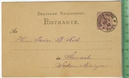 Steinach, Ganzsache Geschäftspost  Um 1880/1890 Verlag:,  POSTKARTE, Mit Frankatur, Mit Stempel, DRESDEN-ALTST. 19.1.188 - Meiningen